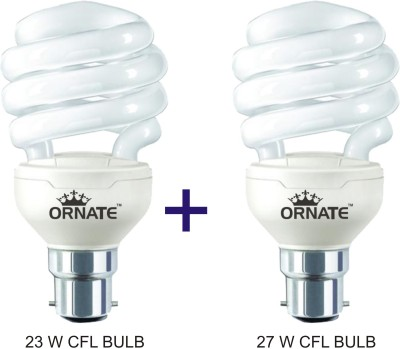 Ornate-Combo-Of-23W-Spiral-&-27W-Spiral-CFL-Bulbs-(White)