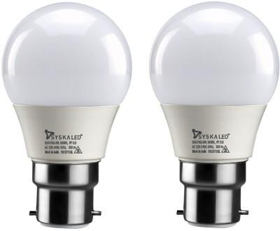 Syska 3 W Round B22 LED Bulb(Yellow, Pack of 2)