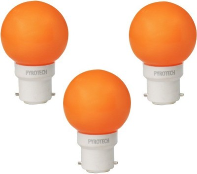 Pyrotech-0.5W-B22-LED-Bulb-(Orange,-Pack-of-3)