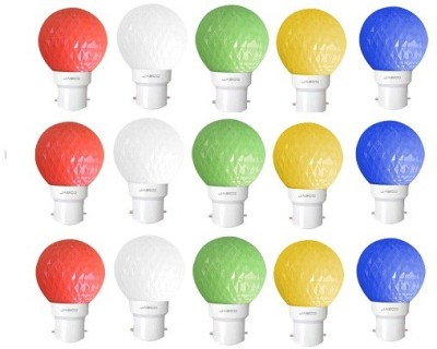 Jasco 0.5W LED Bulb (Pack of 15)(Red, Blue, Yellow, Green & White)