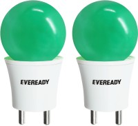 Eveready 0.5 W Plug & Play LED Bulb(Green, Pack of 2)