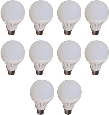 Happy-Power-9W-B22-LED-Bulb-(White,-Pack-of-10)