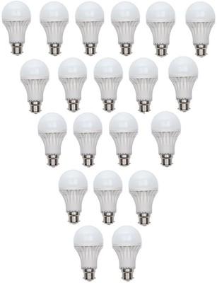 Bright light 3 W Standard B22 PVC Bulb(White, Pack of 20)