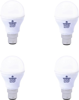 Webers 7W B22 High Beam LED Bulb (Cool Day Light, Pack Of 4)