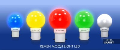REMEN 0.5 W LED Bulb (Multicolor: (Red, Blue, Yellow, White, Green) (Pack of 5)