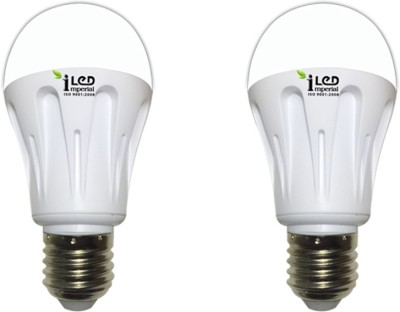 Imperial 7W-CW-E27-3562-2 Premium LED Bulb (White, Pack Of 2)