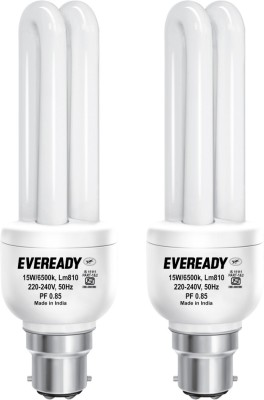 Eveready 15 W CFL Combo with Free 4 Batteries Bulb