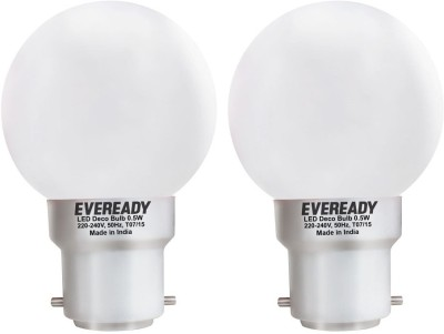 Eveready 0.5 W B22 LED Bulb(White, Pack of 2)