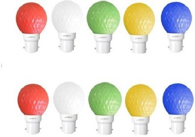 Jasco 0.5W LED Bulb (Multicolor, Pack Of 10)