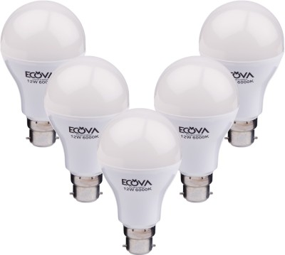Ecova 12 W LED Bulb (White, Pack of 5)