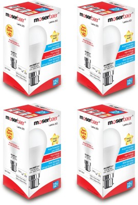 Moserbaer 12W B22 LED Bulb (Cool Day Light, Pack of 4)