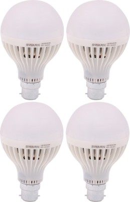 Swarn-9W-B22-800L-LED-Bulb-(White,-Pack-Of-4)