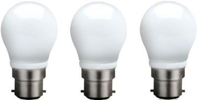 Syska Led Lights 3 W B22 LED Bulb(White, Pack of 3)