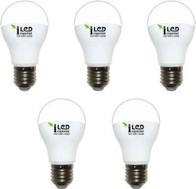 Imperial 10W-CW-E27-3624-5 Screw LED Bulb (White, Pack Of 5)