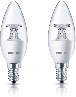 Philips 3.5W E14 Candle LED Bulb (Warm White, Pack Of 2)