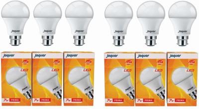 Jaquar 7W Prima B22 LED Bulb (White, Pack of 6)