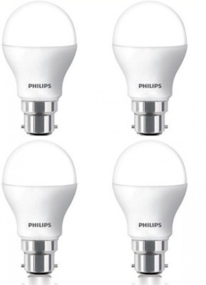 Philips 7W B22 600L LED Bulb (White, Pack Of 4)