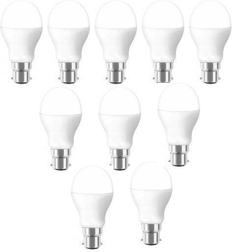 YellowStar 9 W Standard B22 LED Bulb(White, Pack of 10) Image