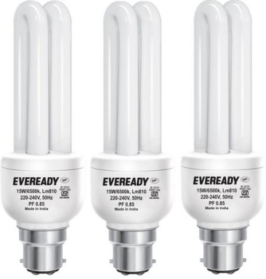 Eveready 15 W CFL Combo with Free 6 Batteries Bulb