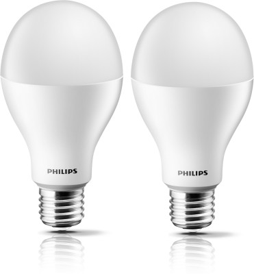 Philips Stellar Bright E27 15W 1700 Lumens LED Bulb (Crystal White, Pack of 2)