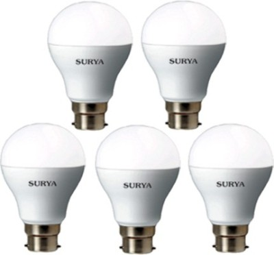 Surya 12W LED Bulb (White, Pack of 5)