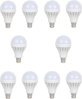 Earton 9W LED Bulb (White, Pack of 10)