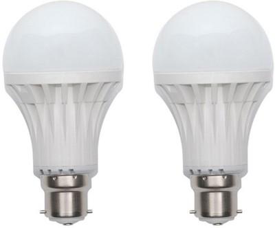 LED 9 W Standard B22 PVC Bulb(White, Pack of 2)