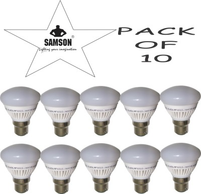 Samson 7W B22 630L LED Bulb (Warm White, Pack Of 10)
