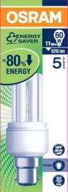 Osram 11W B22d Mini Stick CFL Bulb (White)