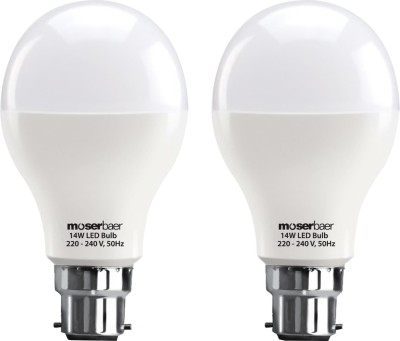 Moserbaer 14W B22 6500K LED Light (Cool Day Light , Pack Of 2)
