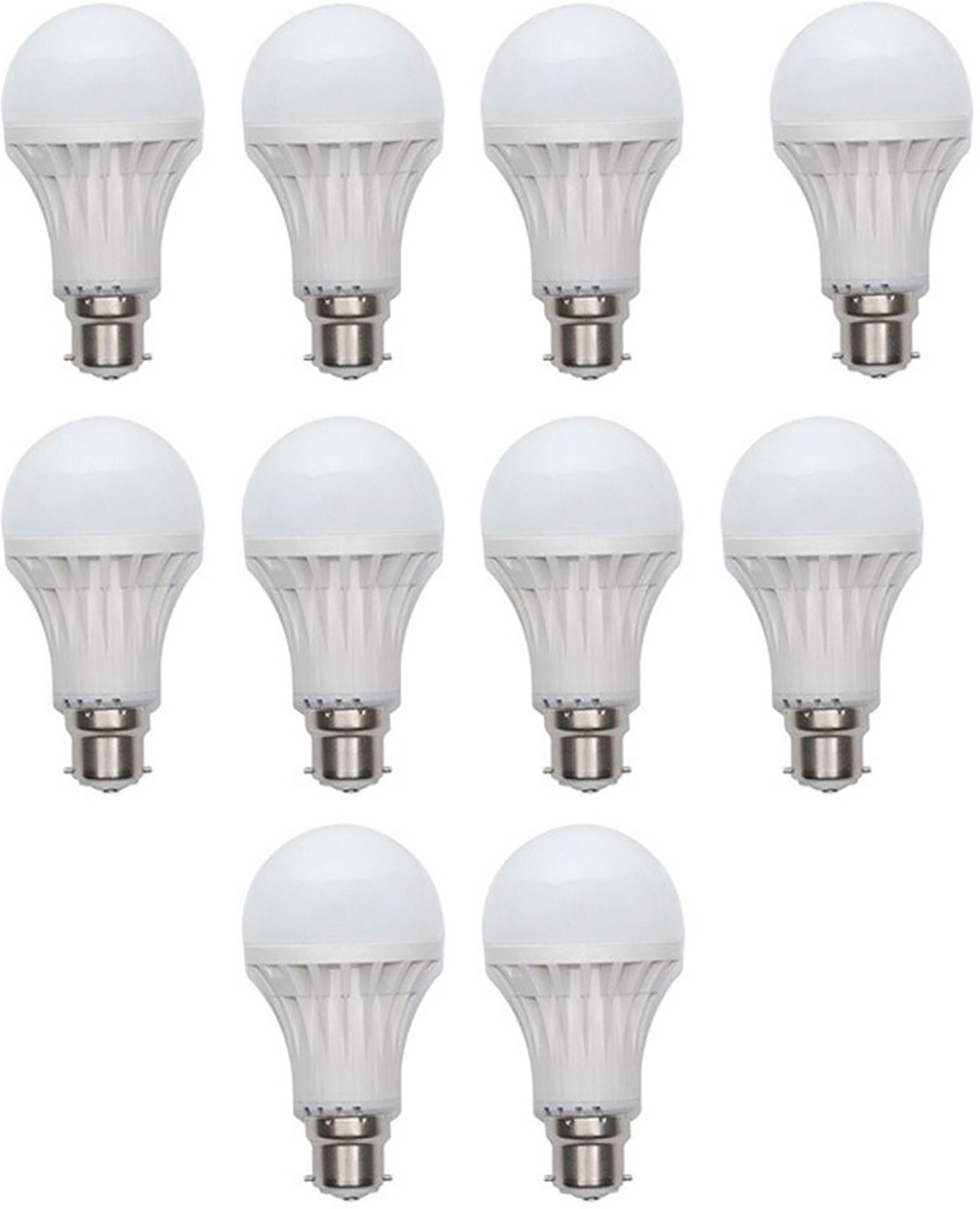 Kalash 9 W B22 LED Bulb(White, Pack of 10) Image
