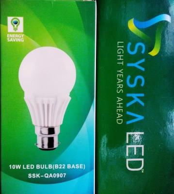 Syska Led Lights 10 W B22 LED Bulb(White)