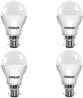 Eveready 5W 6500K LED Bulb (Pack of 4) With Free 8 Pc AAA Battery Combo