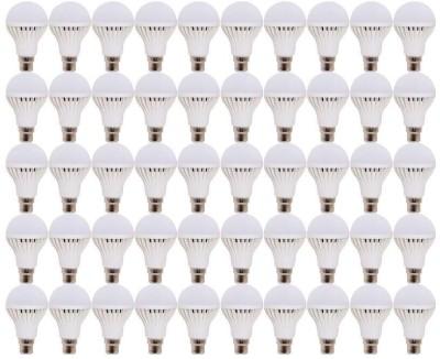Durable 3 W Standard B22 Halogen Bulb(White, Pack of 50)