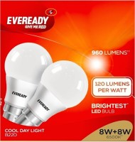 Eveready 8 W B22 LED Bulb(White, Pack of 2)