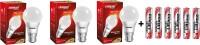 Eveready 3 W, 5 W, 7 W B22 LED Bulb(White, Pack of 3)