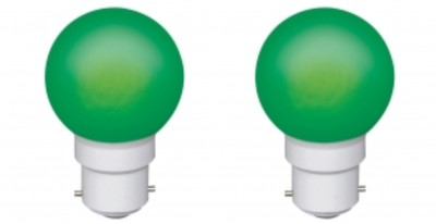 Ornate-0.5-W-LED-Bulb-(Green,-Pack-of-2)