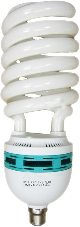 Black Cat 85 W Spiral B27 CFL Bulb(White) Image