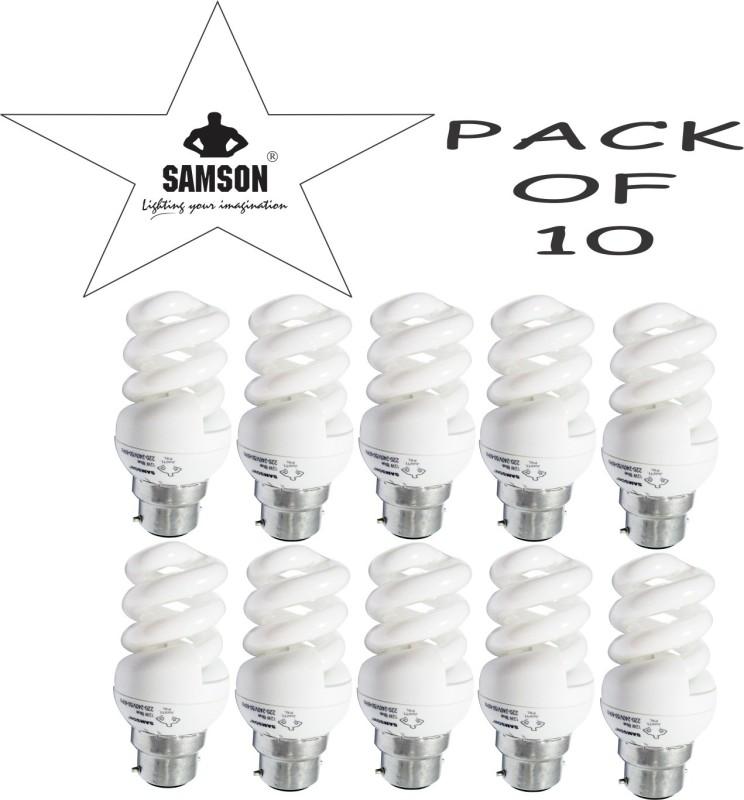Samson 12 W Spiral B22 CFL Bulb(White, Pack of 10)