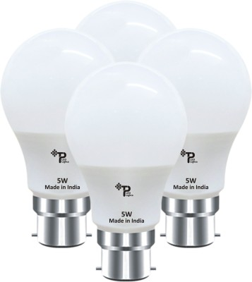 Tp 5W B22 LED Bulb (Pack Of 4 ,White)