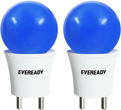 Eveready 0.5 W Plug & Play LED Bulb(Blue, Pack of 2)