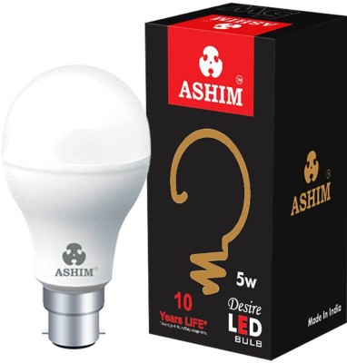 Ashim Desire 5W B22 LED Bulb (Cool Day Light, Pack Of 4)