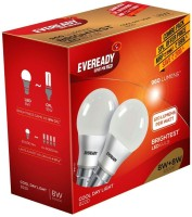 Eveready 8 W, 8 W B22D LED Bulb(White, Pack of 2)