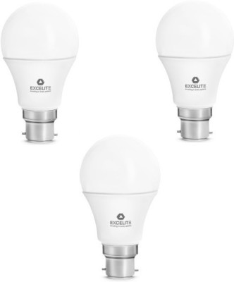 excelite 7W B22D 560L Dazzel LED Bulb (White, Pack Of 3)