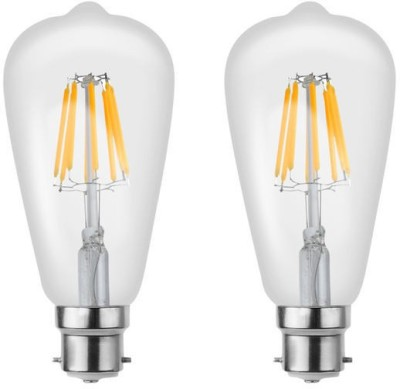 Imperial 16199 8W B22 LED Filament Bulb (Yellow, Pack of 2)