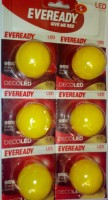 Eveready 0.5 W B22 LED Bulb(Yellow, Pack of 6)