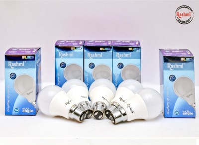 Rashmi-3W-B22-Wide-Angle-LED-Bulb-(White,-Pack-of-5)