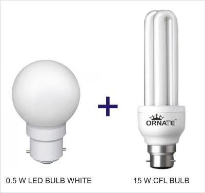 Ornate B22 CFL 0.5 W, 15 W Bulb