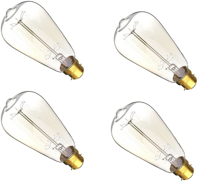 Craftsells 40 W Standard E27 Incandescent Bulb(Clear, Pack of 4)