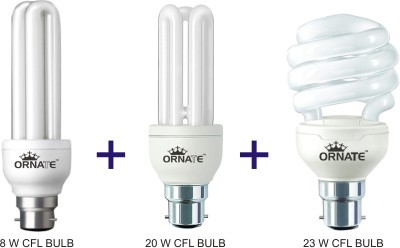 Ornate B22 CFL 8 W, 20 W, 23 W Bulb